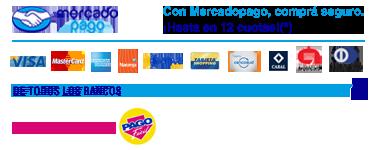 Pagá con seguridad con MercadoPago y en efectivo con PagoFacil