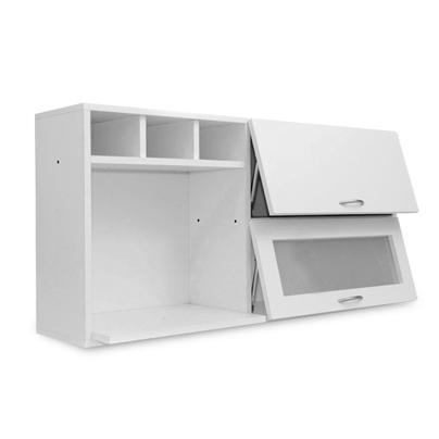 Orden tu cocina con la alacena con doble puerta y estante - Estante para microondas ...